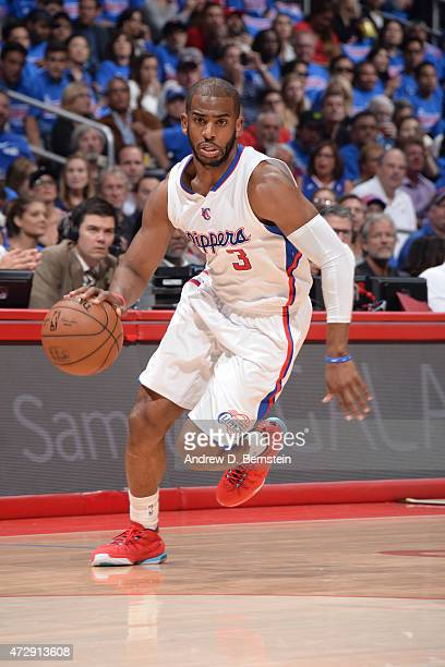 Chris Paul of the Los Angeles Clippers drives against the Houston Rockets in Game Four of the Western Conference Semifinals during the 2015 NBA...