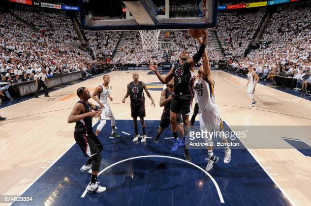 Chris Paul of the Los Angeles Clippers goes to the basket against the Utah Jazz during Game Six of the Western Conference Quarterfinals of the 2017...