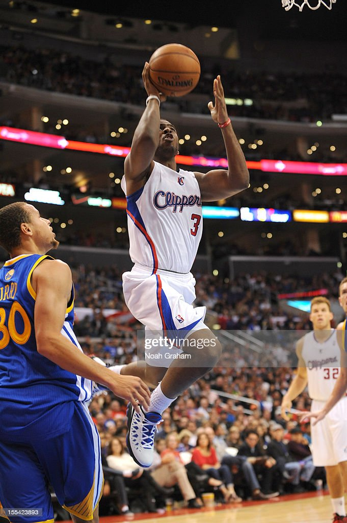 <a gi-track='captionPersonalityLinkClicked' href=/galleries/search?phrase=Chris+Paul&family=editorial&specificpeople=212762 ng-click='$event.stopPropagation()'>Chris Paul</a> #3 of the Los Angeles Clippers goes to the basket during the game between the Los Angeles Clippers and the Golden State Warriors at Staples Center on November 3, 2012 in Los Angeles, California.