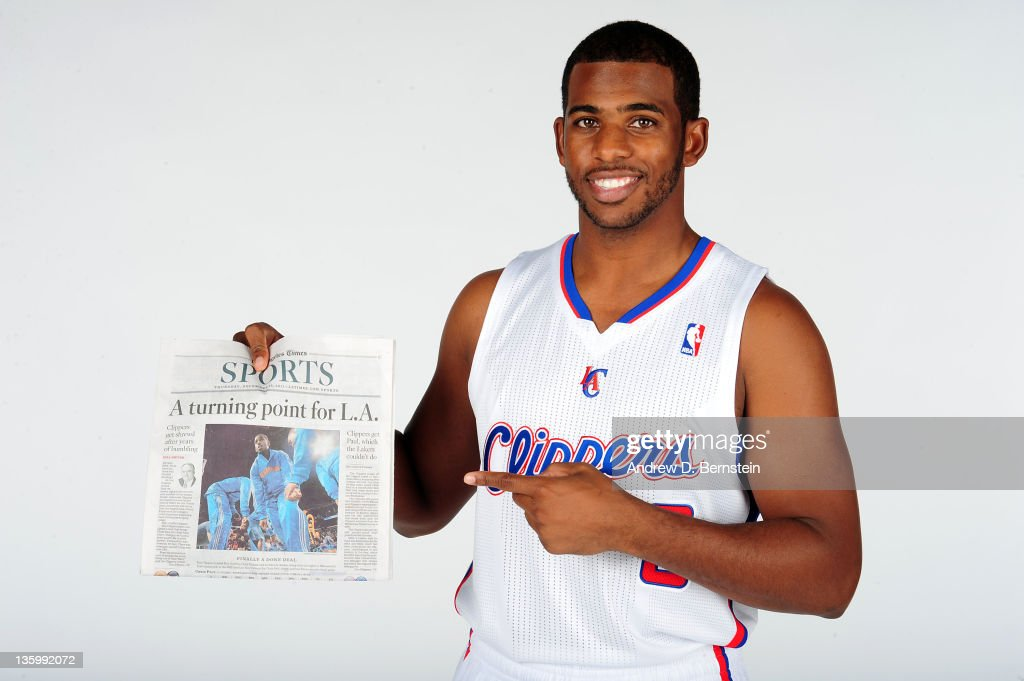 Chris Paul #3 of the Los Angeles Clippers poses for a photo at the Clippers Training Center on December 15, 2011 in Playa Vista, California.