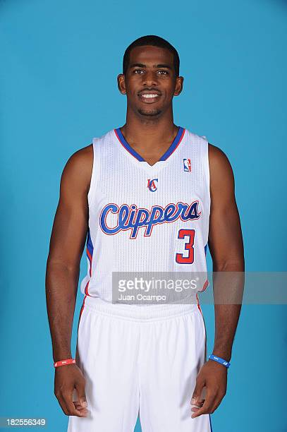 Chris Paul of the Los Angeles Clippers poses for a picture during media day at the Clippers Training Center on September 30 2013 in Playa Vista...