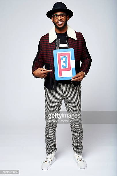 Chris Paul of the Los Angeles Clippers poses with his twitter emoji for a portrait on February 11 2016 at the Sheraton Centre in Toronto Ontario...