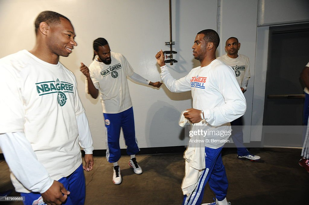 <a gi-track='captionPersonalityLinkClicked' href=/galleries/search?phrase=Chris+Paul&family=editorial&specificpeople=212762 ng-click='$event.stopPropagation()'>Chris Paul</a> #3 of the Los Angeles Clippers runs out before the game against the Los Angeles Lakers at Staples Center on April 7, 2013 in Los Angeles, California.