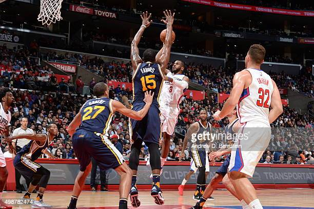 Chris Paul of the Los Angeles Clippers shoots against the Utah Jazz on November 25 2015 at STAPLES Center in Los Angeles California NOTE TO USER User...