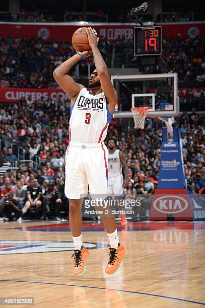 Chris Paul of the Los Angeles Clippers shoots the ball against the Sacramento Kings on October 31 2015 at STAPLES Center in Los Angeles California...
