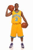 Chris Paul of the New Orleans Hornets poses during a portrait session with the 2005 NBA rookie class on August 10 2005 in Tarrytown New York NOTE TO...