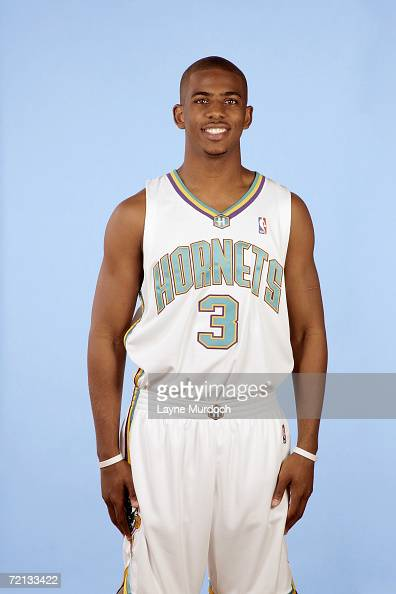 Chris Paul of the New Orleans/Oklahoma City Hornets poses for photos during Media Day on October 2 2006 at Southern Nazerene University in Bethany...