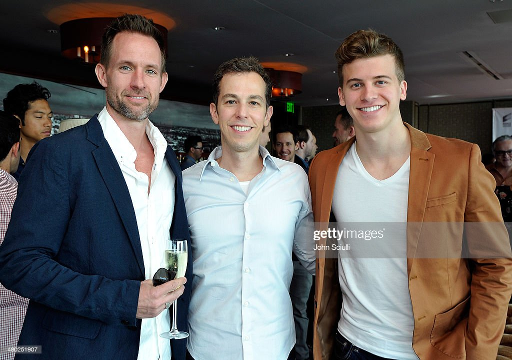 Chris Payne Gilbert, Josh Berman and Barrett Carnahan attend the 'Drop Dead Diva' final season premiere party on March 23, 2014 in West Hollywood, California.
