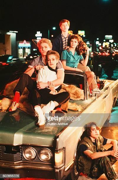 Chris Penn Jenny Wright Eric Stoltz Lea Thompson and Ilan MitchellSmith pose for the Universal Studios movie 'The Wild Life' circa 1984