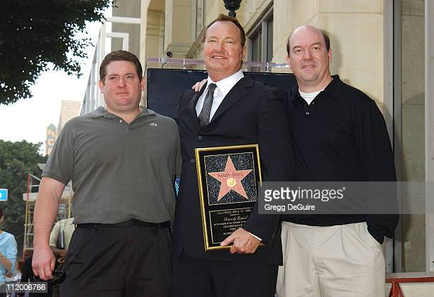 Chris Penn Randy Quaid John Carroll Lynch during Randy Quaid Honored With A Star On The Hollywood Walk Of Fame at Hollywood Blvd in Hollywood...