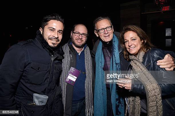 Chris Perez Jack Lerner Michael Donaldson and Susan Turley attend the Film Independent International Documentary Association Oovra Music And RO*CO...
