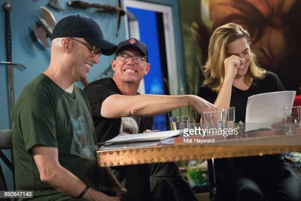 Chris Perkins Matthew Lillard and Dylan Sprouse help unveil the new Dungeons Dragons storyline 'Tomb of Annihilation' during a live streaming event...