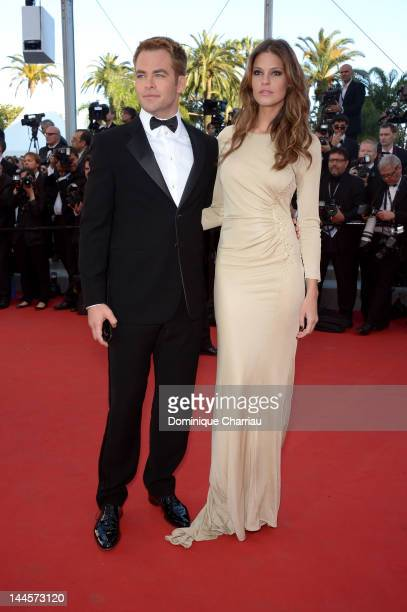 Chris Pine and Dominique Piek attend the Opening Ceremony and 'Moonrise Kingdom' Premiere during the 65th Annual Cannes Film Festival at the Palais...