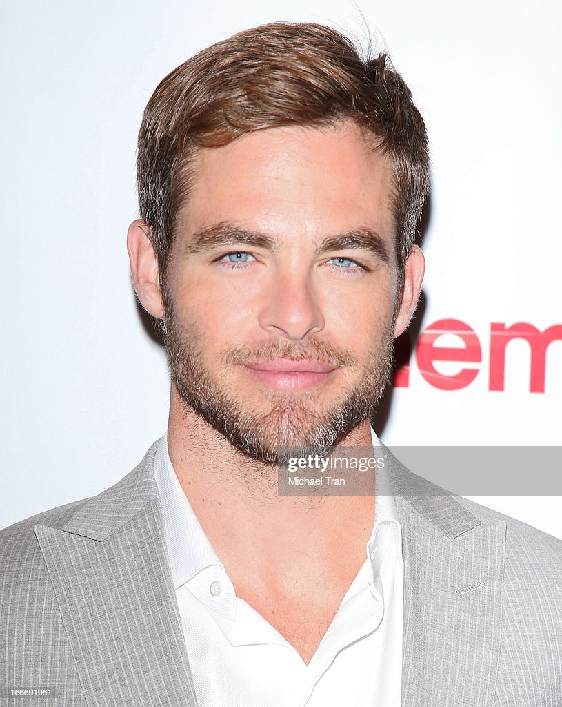 <a gi-track='captionPersonalityLinkClicked' href=/galleries/search?phrase=Chris+Pine&family=editorial&specificpeople=641995 ng-click='$event.stopPropagation()'>Chris Pine</a> arrives at a Paramount Pictures presentation to promote upcoming films, held at Caesars Palace during CinemaCon, the official convention of the National Association of Theatre Owners on April 15, 2013 in Las Vegas, Nevada.