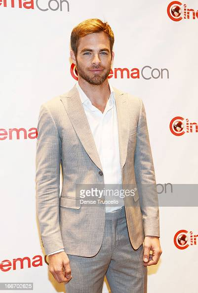 Chris Pine arrives at CinemaCon 2013 Paramount opening night party and presentation at Caesars Palace on April 15 2013 in Las Vegas Nevada