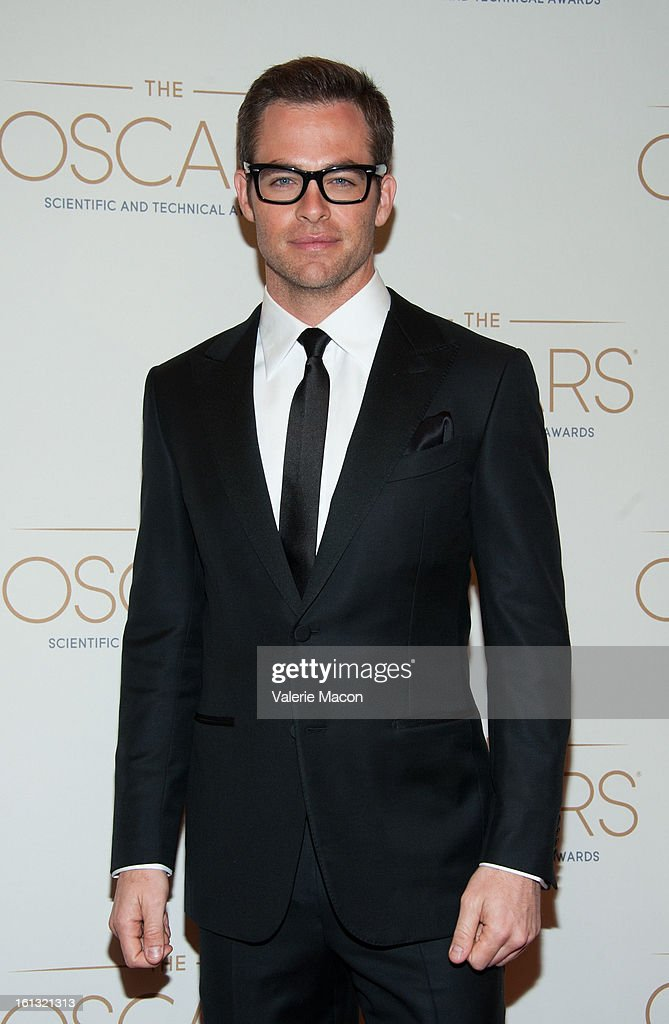 Chris Pine arrives at the Academy Of Motion Picture Arts And Sciences' Scientific & Technical Awards at Beverly Hills Hotel on February 9, 2013 in Beverly Hills, California.