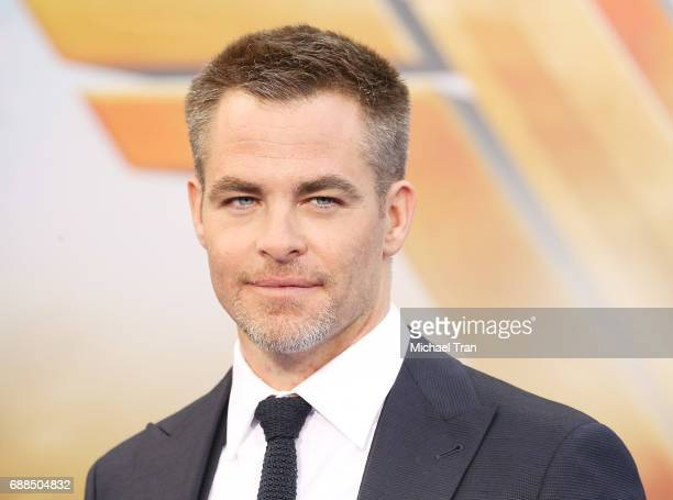 Chris Pine arrives at the Los Angeles premiere of Warner Bros Pictures' 'Wonder Woman' held at the Pantages Theatre on May 25 2017 in Hollywood...