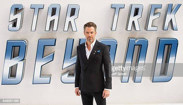 Chris Pine arrives for the UK premiere of 'Star Trek Beyond' at Empire Leicester Square on July 12 2016 in London United Kingdom