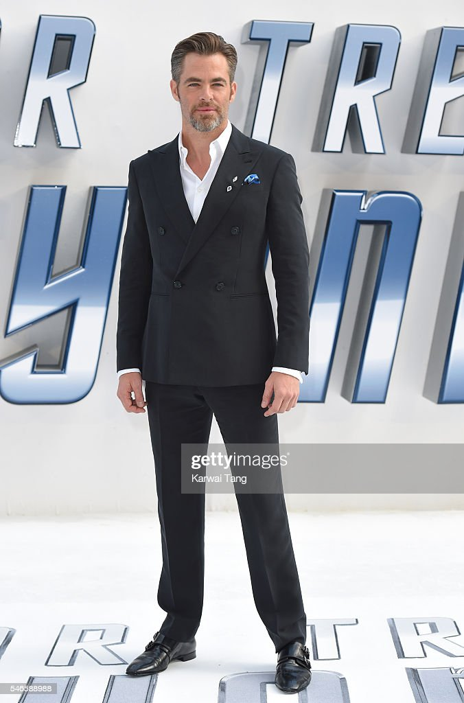 Chris Pine arrives for the UK premiere of 'Star Trek Beyond' on July 12 2016 in London United Kingdom