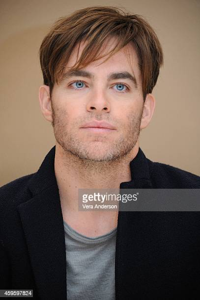 Chris Pine at the 'Into The Woods' Press Conference at the Waldorf Astoria Hotel on November 23 2014 in New York City