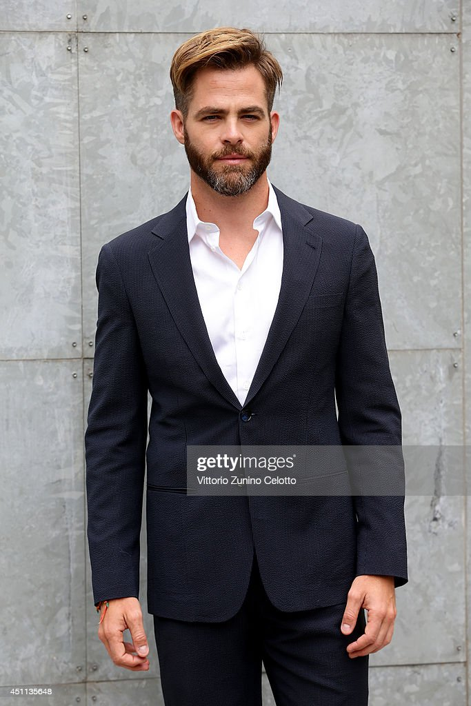 <a gi-track='captionPersonalityLinkClicked' href=/galleries/search?phrase=Chris+Pine&family=editorial&specificpeople=641995 ng-click='$event.stopPropagation()'>Chris Pine</a> attends Giorgio Armani show during Milan Menswear Fashion Week Spring Summer 2015 on June 24, 2014 in Milan, Italy.