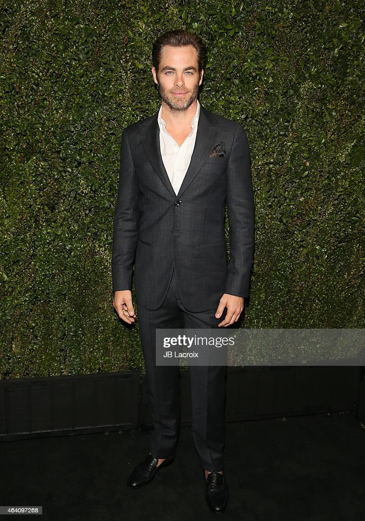 Chris Pine attends the Chanel And Charles Finch Pre-Oscar Dinner at Madeo Restaurant on February 21, 2015 in West Hollywood, California.