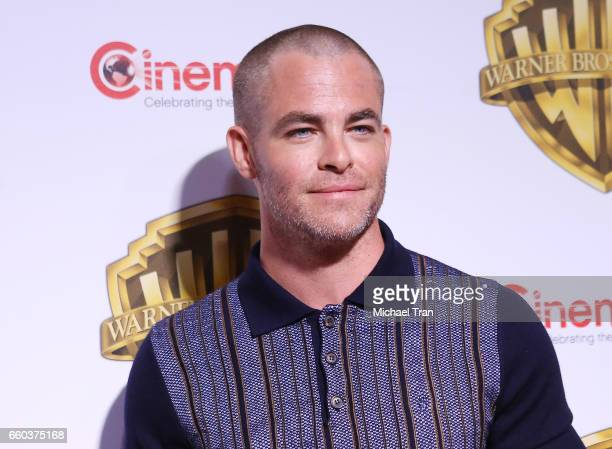 Chris Pine attends the CinemaCon 2017 Warner Bros Pictures presentation held at The Colosseum at Caesars Palace during CinemaCon the official...