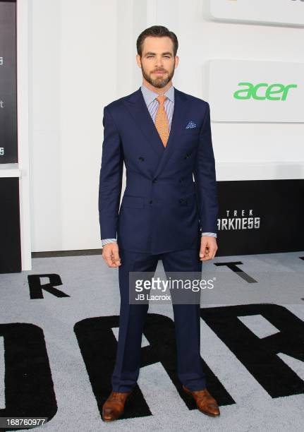 Chris Pine attends the Los Angeles premiere of 'Star Trek Into Darkness' held at Dolby Theatre on May 14 2013 in Hollywood California