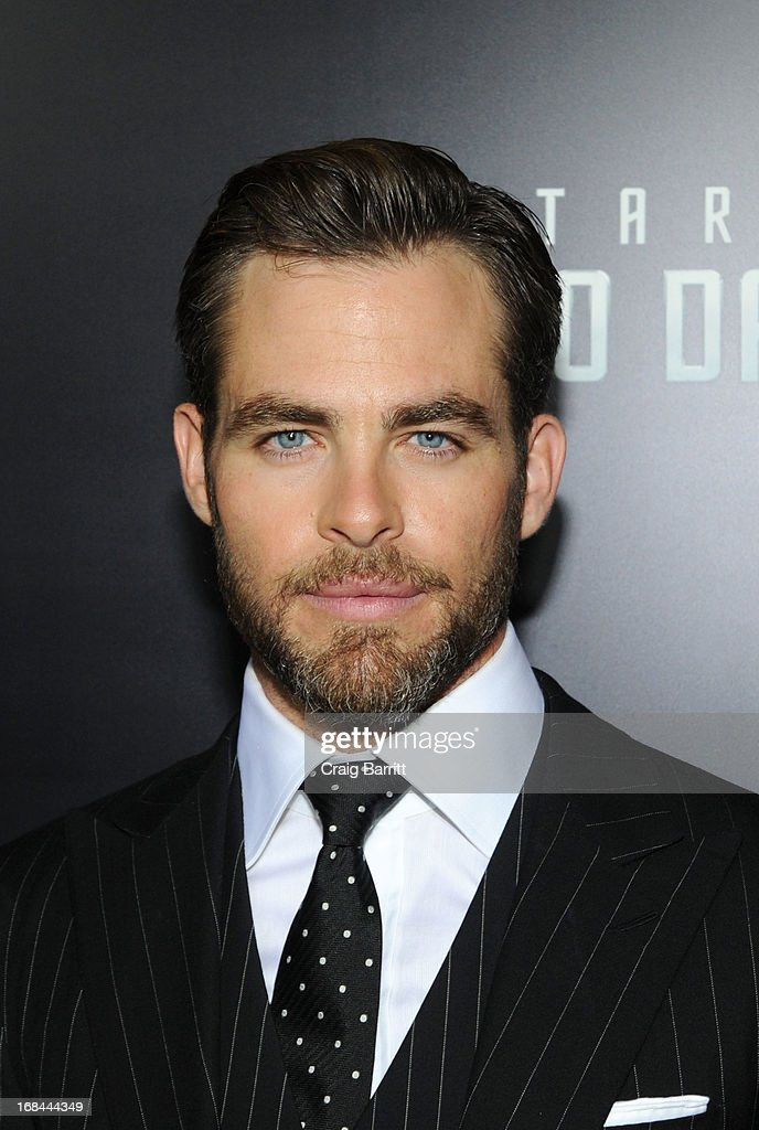 <a gi-track='captionPersonalityLinkClicked' href=/galleries/search?phrase=Chris+Pine&family=editorial&specificpeople=641995 ng-click='$event.stopPropagation()'>Chris Pine</a> attends the 'Star Trek Into Darkness' New York Special Screening at AMC Loews Lincoln Square on May 9, 2013 in New York City.