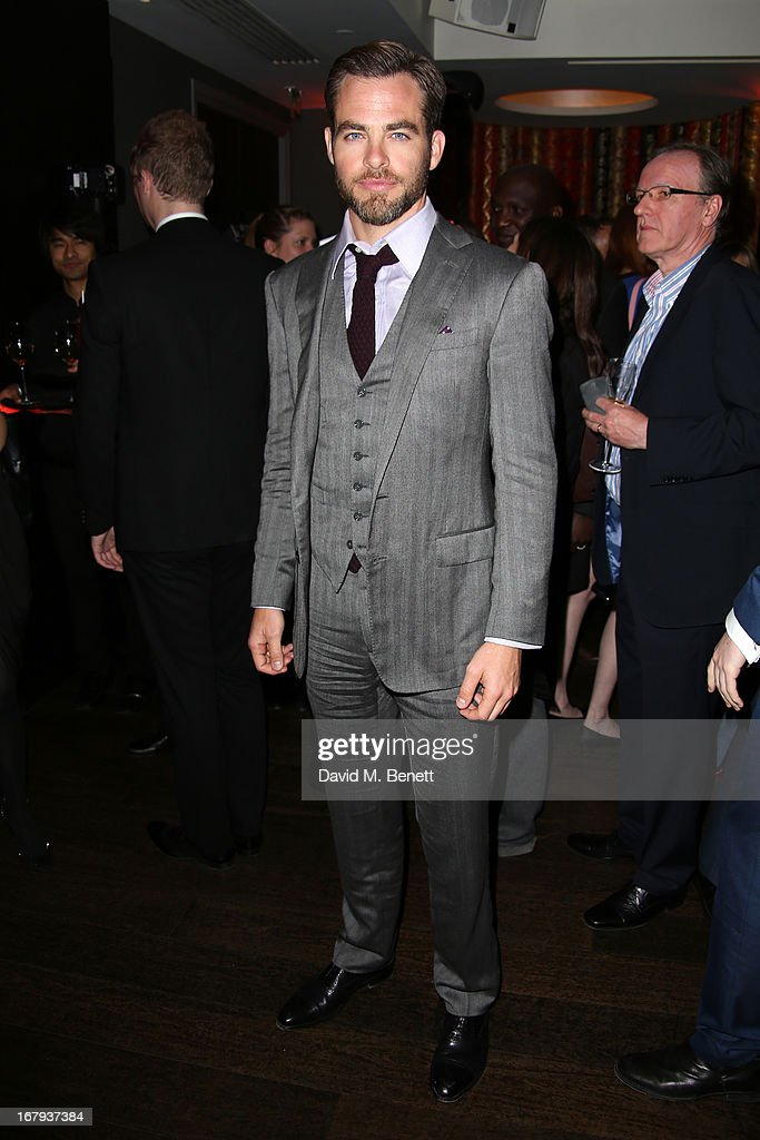 Chris Pine attends the UK Premiere - After Party of 'Star Trek Into Darkness' at Aqua on May 2, 2013 in London, England.