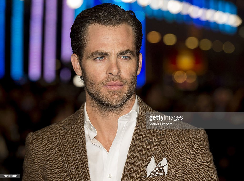 <a gi-track='captionPersonalityLinkClicked' href=/galleries/search?phrase=Chris+Pine&family=editorial&specificpeople=641995 ng-click='$event.stopPropagation()'>Chris Pine</a> attends the UK Premiere of 'Jack Ryan: Shadow Recruit' at Vue Leicester Square on January 20, 2014 in London, England.