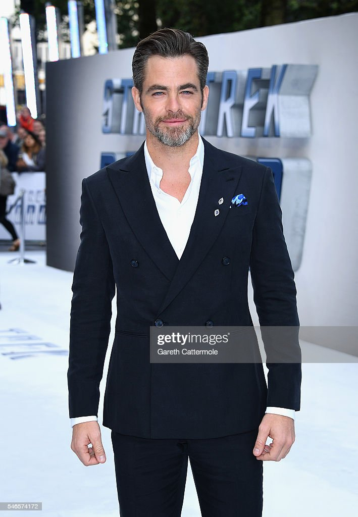 Chris Pine attends the UK Premiere of Paramount Pictures 'Star Trek Beyond' at the Empire Leicester Square on July 12 2016 in London England