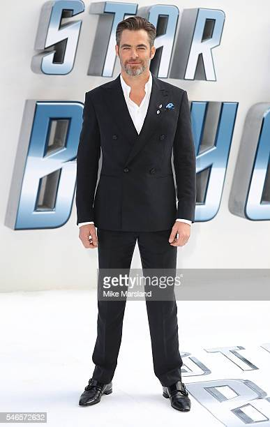 Chris Pine attends the UK Premiere of 'Star Trek Beyond' at Empire Leicester Square on July 12 2016 in London England