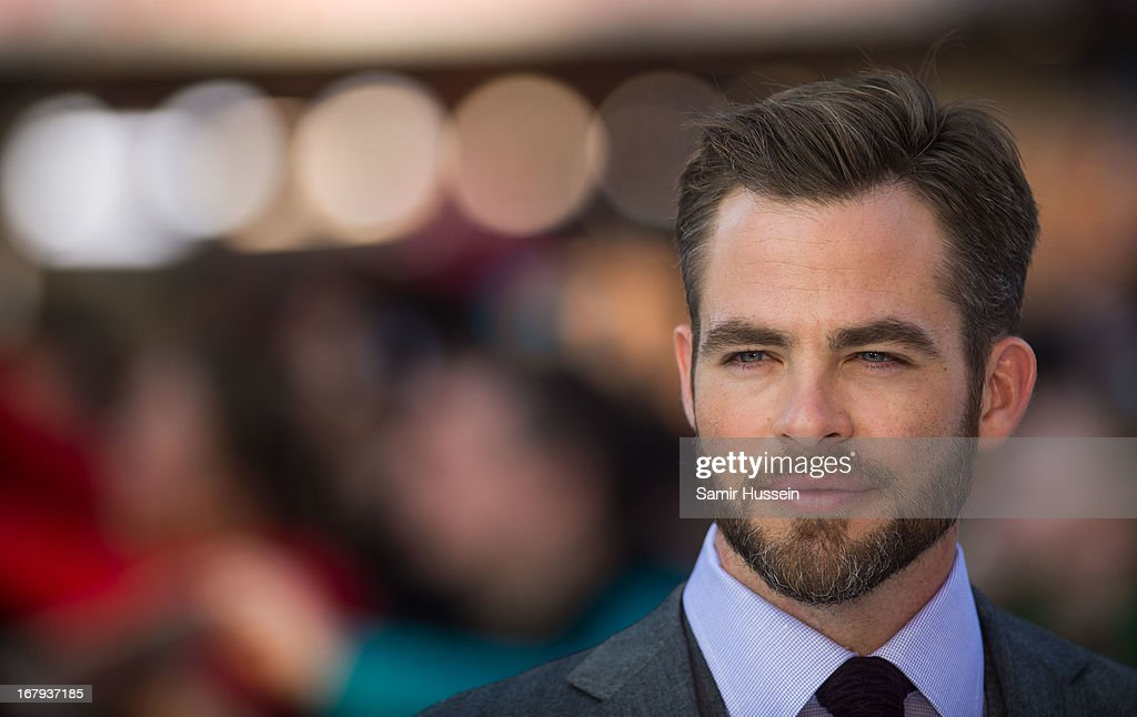 Chris Pine attends the UK Premiere of 'Star Trek Into Darkness' at The Empire Cinema on May 2, 2013 in London, England.