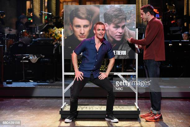 LIVE 'Chris Pine' Episode 1723 Pictured Chris Pine and Pete Davidson during the Opening Monologue in studio 8H on May 6 2017