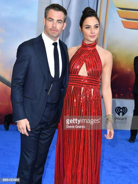 Chris Pine Gal Gadot arrives at the Premiere Of Warner Bros Pictures' 'Wonder Woman' at the Pantages Theatre on May 25 2017 in Hollywood California