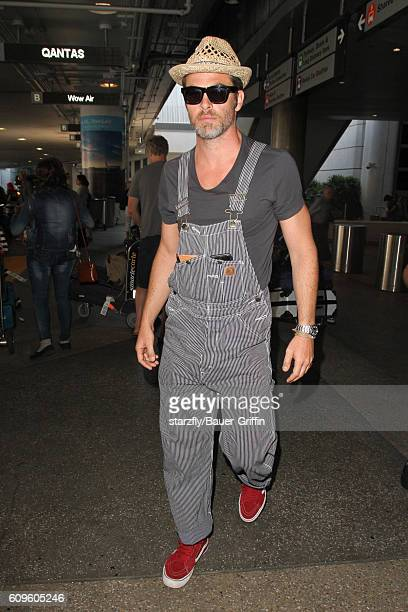 Chris Pine is seen at LAX on September 21 2016 in Los Angeles California