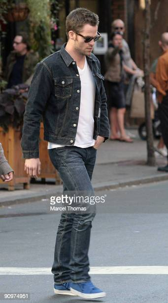 Chris Pine is seen on the streets of Manhattan on September 19 2009 in New York City