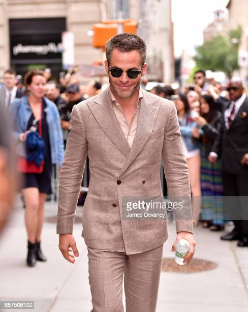 Chris Pine leaves 'AOL Build' taping at BUILD Studio on May 23 2017 in New York City