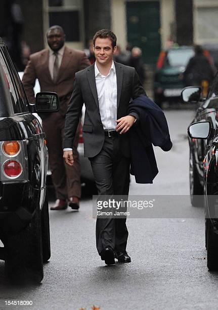 Chris Pine on set of 'Jack Ryan' on October 21 2012 in London England