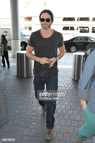 Chris Pine seen at LAX on March 13 2015 in Los Angeles California