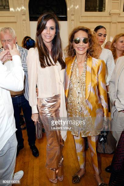 Chris Pitanguy and Marisa Berenson attend Gyunel Show during Paris Fashion Week as part of Haute Couture Fall/Winter 20172018 at Hotel D'Evreux on...