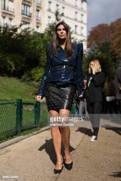 Chris Pitanguy is seen attending Mugler during Paris Fashion Week wearing Mugler on September 30 2017 in Paris France