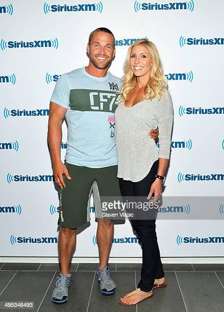 Chris Powell and Heidi Powell of ABC's 'Extreme Weight Loss' visit SiriusXM Studios on June 2 2014 in New York City