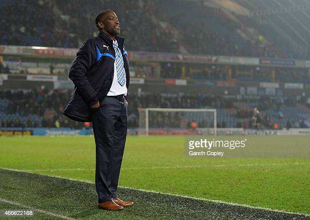 Chris Powell manager of Huddersfield Town looks thoughtful on the touchline during the Sky Bet Championship between Huddersfield Town and Norwich...