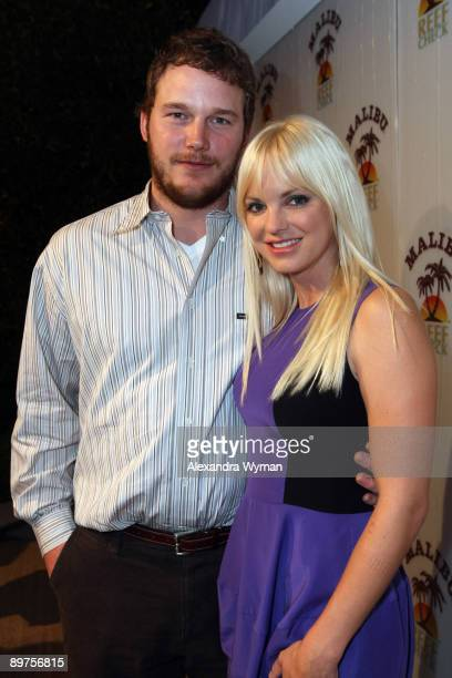 Chris Pratt and Anna Faris arrive to the Malibu and Reef Check Party hosted by Anna Faris at Malibu Reef Check Estate on August 11 2009 in Beverly...