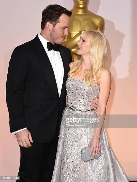 Chris Pratt and Anna Faris arrives at the 87th Annual Academy Awards at Hollywood Highland Center on February 22 2015 in Hollywood California