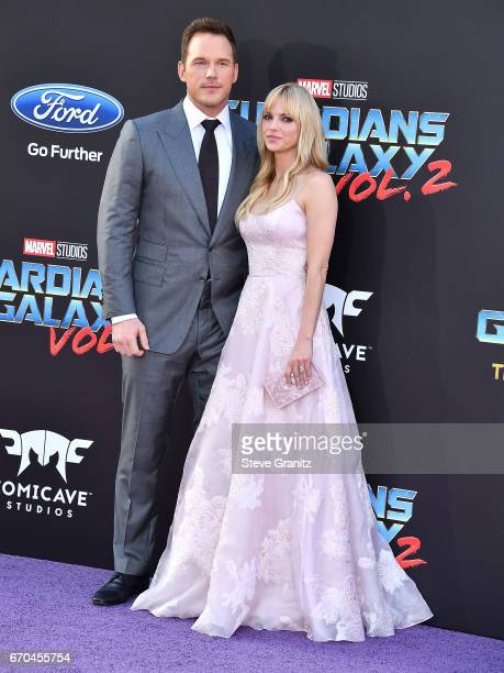 Chris Pratt Anna Faris arrives at the Premiere Of Disney And Marvel's 'Guardians Of The Galaxy Vol 2' at Dolby Theatre on April 19 2017 in Hollywood...