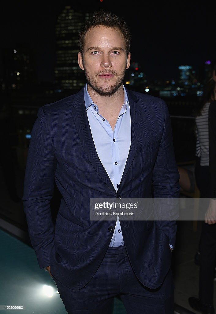 Chris Pratt attends The Cinema Society with Men's Fitness and FIJI Water special screening of Marvel's 'Guardians of the Galaxy' after party at The...