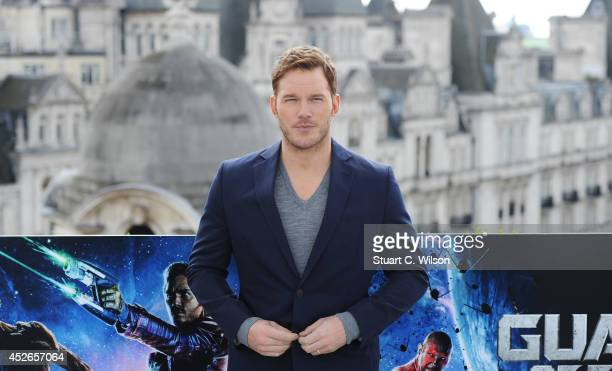 Chris Pratt attends the 'Guardians of the Galacy' photocall on July 25 2014 in London England